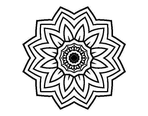 Conosciuto Disegno di Mandala fiori de girasole da Colorare - Acolore.com VD33