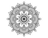 Disegno di Mandala flash florale da colorare
