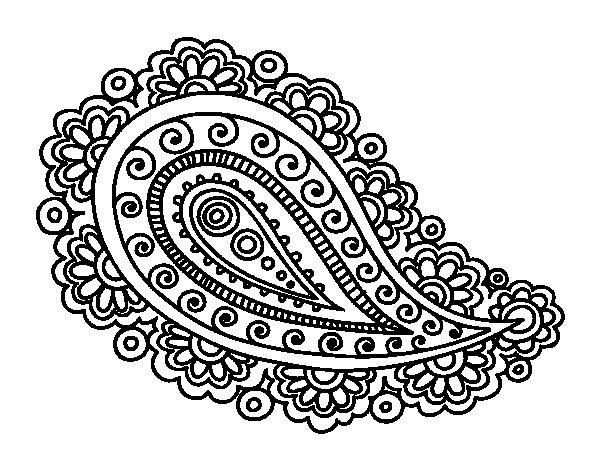 Disegno di mandala lacrima da colorare for Disegni per mosaici da stampare