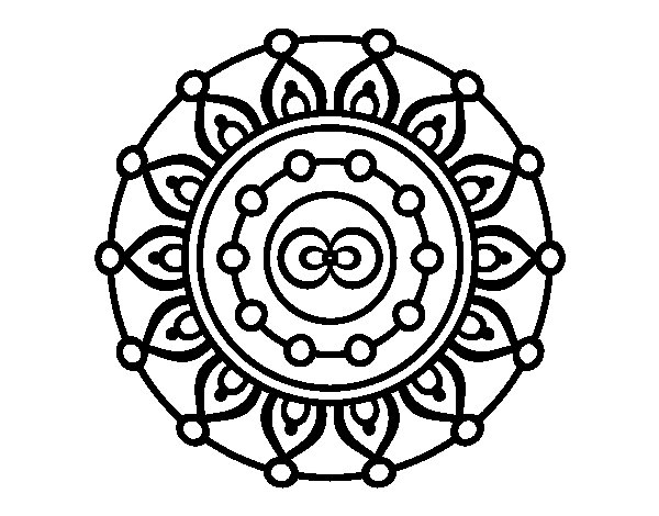 Disegno di Mandala meditazione da Colorare