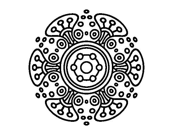 Disegno di Mandala mondo lontano da Colorare