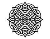 Disegno di Mandala punti di fuoco da colorare