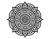 Dibujo de Mandala punti di fuoco