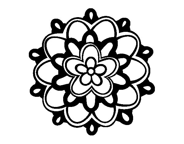 Disegno Fiori Da Colorare Con Google Disegno Di Un Fiore: Disegno Di Mandala Un Fiore Da Colorare