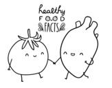 Disegno di Mangiare sano da colorare