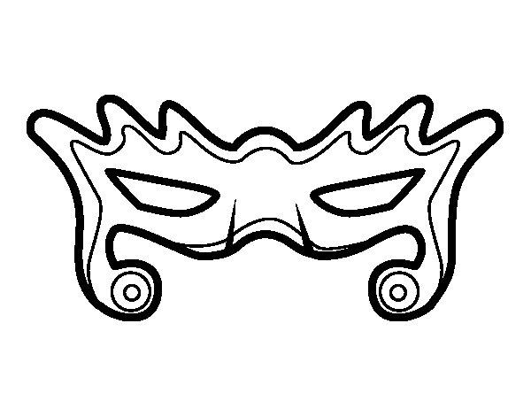 Disegno di Maschera di moda da Colorare