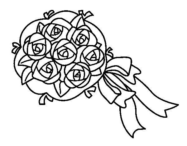 Disegno Di Rosa Con Foglie Da Colorare Acolore Com: Disegno Di Mazzo Di Gardenie Da Colorare