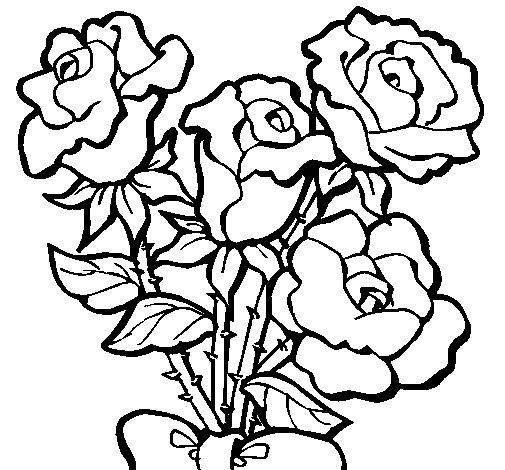 Disegno di Mazzo di rose  da Colorare