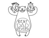 Disegno di Miglior papà del mondo da colorare