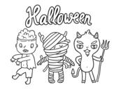 Disegno di Mostri per Halloween da colorare