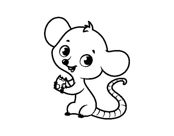 Disegno di Mouse del bambino da Colorare