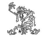 Disegno di Mummia malvagia da colorare