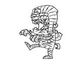 Disegno di Mummia Tutankamon da colorare