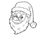 Disegno di Muso di Babbo Natale da colorare