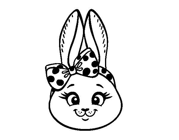 Disegno di Muso di coniglietto da Colorare