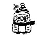 Disegno di Natale Owl da colorare