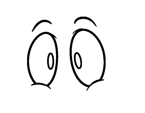 Disegno di Occhi umani da Colorare