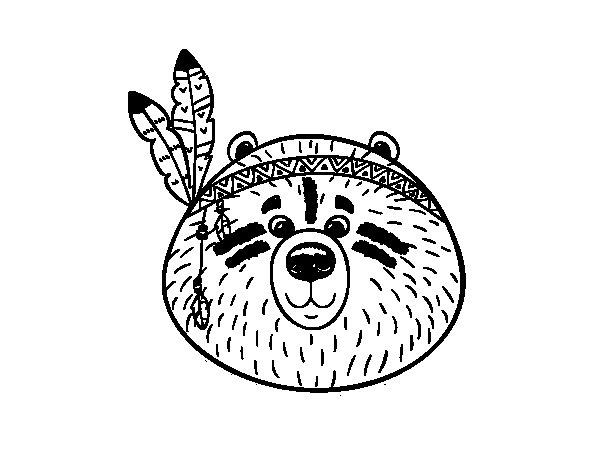 Disegno di Orso indiano da Colorare