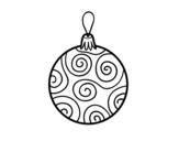 Disegno di Palla albero di Natale decorato da colorare