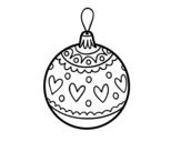 Disegno di Palline di Natale timbrato da colorare