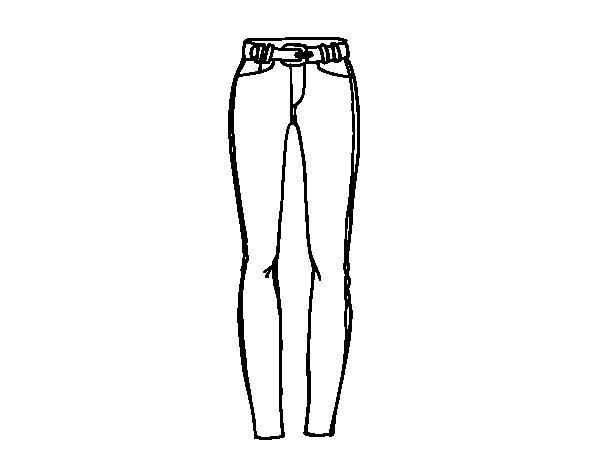 Disegno di Pantaloni a sigaretta da Colorare