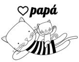 Disegno di Papà gatto da colorare