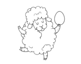 Disegno di Pecora pasquale da colorare