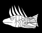 Disegno di Pesce-Leone da colorare