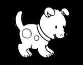 Disegno di Piccolo cagnolino da colorare