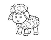 Disegno di Piccolo pecora da colorare