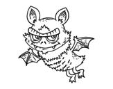 Disegno di Pipistrello di Halloween da colorare