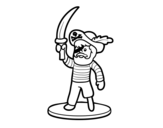 Disegno di Pirata giocattolo da colorare