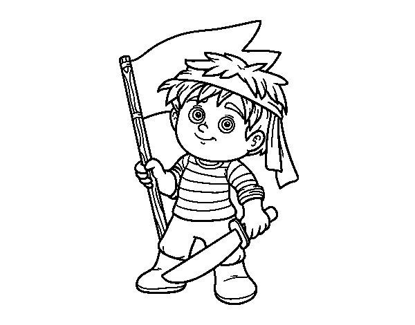 Disegno di Pirata Grumete da Colorare