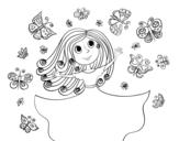 Disegno di Principessa Farfalle da colorare