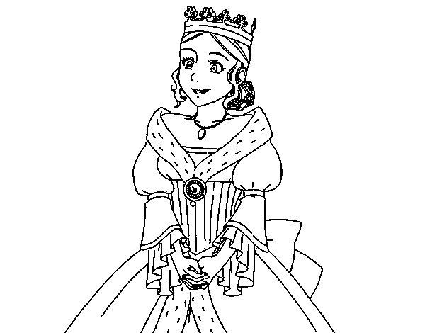 Disegno di Principessa Medievale da Colorare