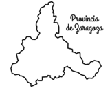 Disegno di Provincia di Zaragoza da colorare