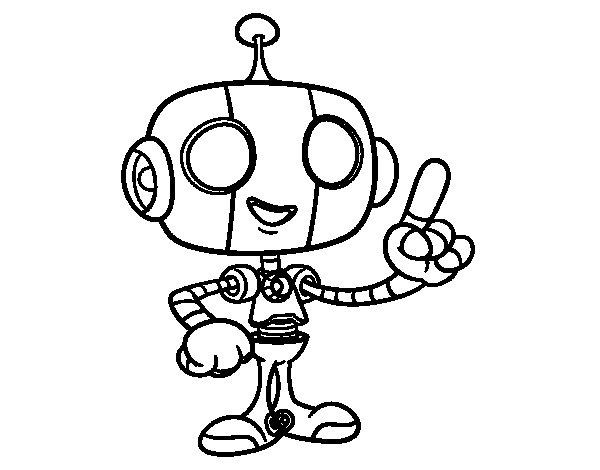 Disegno di Robot amichevole da Colorare