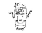 Disegno di Robot en servizio da colorare