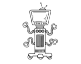 Disegno di Robot meccanico da colorare