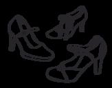 Disegno di Scarpe salotto da colorare