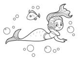 Disegno di Sirena magica da colorare