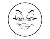 Disegno di Smiley malvagia  da colorare