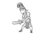 Disegno di Soldato romano con la spada da colorare