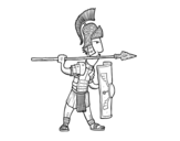 Disegno di Soldato romano in difesa da colorare