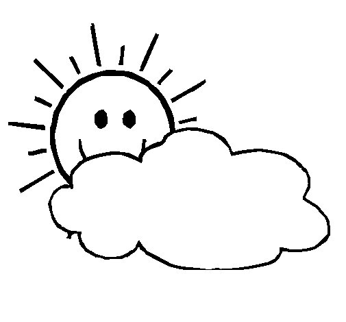 Disegno di sole con nuvola da colorare for Nuvola da colorare