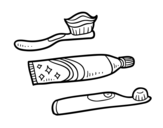 Disegno di Spazzolini da denti da colorare