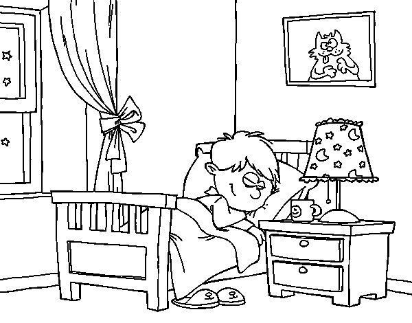 Disegno di stanza da colorare for Costruisci la tua stanza online
