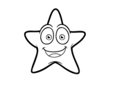 Disegno di Stella di mare sorridente da colorare