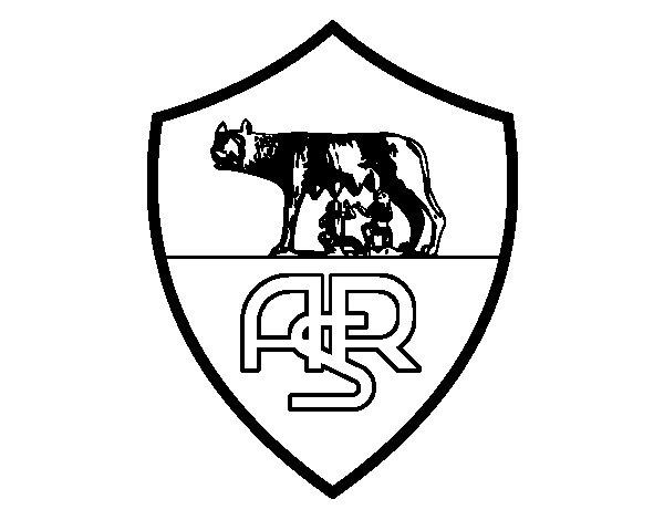 Disegno di stemma del as roma da colorare for Disegni della roma da colorare