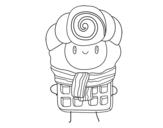 Disegno di Super gaufre da colorare
